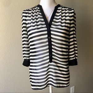 Striped Lauren Conrad High Low Tunic